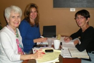 Karen Greer, Career Consultant and author of this blog, (left) at a Midternship planning meeting.