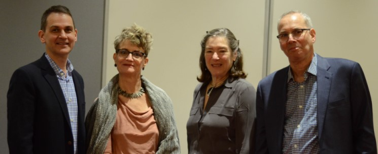 Panelists who spoke at a New York City forum on November 7 about ways to combat ageism in the job market (left to right) Michael Herndon, Ashton Applewhite, Elizabeth Fideler, and Mark Schleisner. Sheryl Chuang, Photographer