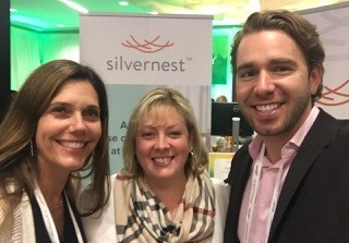 Kari Henley (left), Margaret Ann Burness and Chase Terwilliger, from Silvernest, a home sharing platform for older adults seeking compatible housemates.